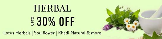 Get Online Offers on Herbal Products Upto 30%