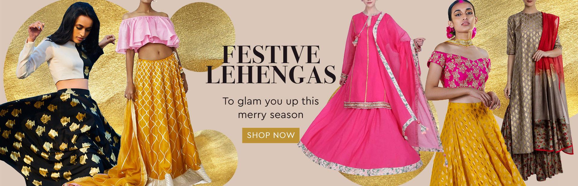 4bde2241486d6 Buy Latest Designer Lehengas & Designer Lehenga Choli Online| Nykaa ...