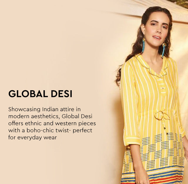 Global Desi Online- Buy The Global Desi New Collection Online| Nykaa