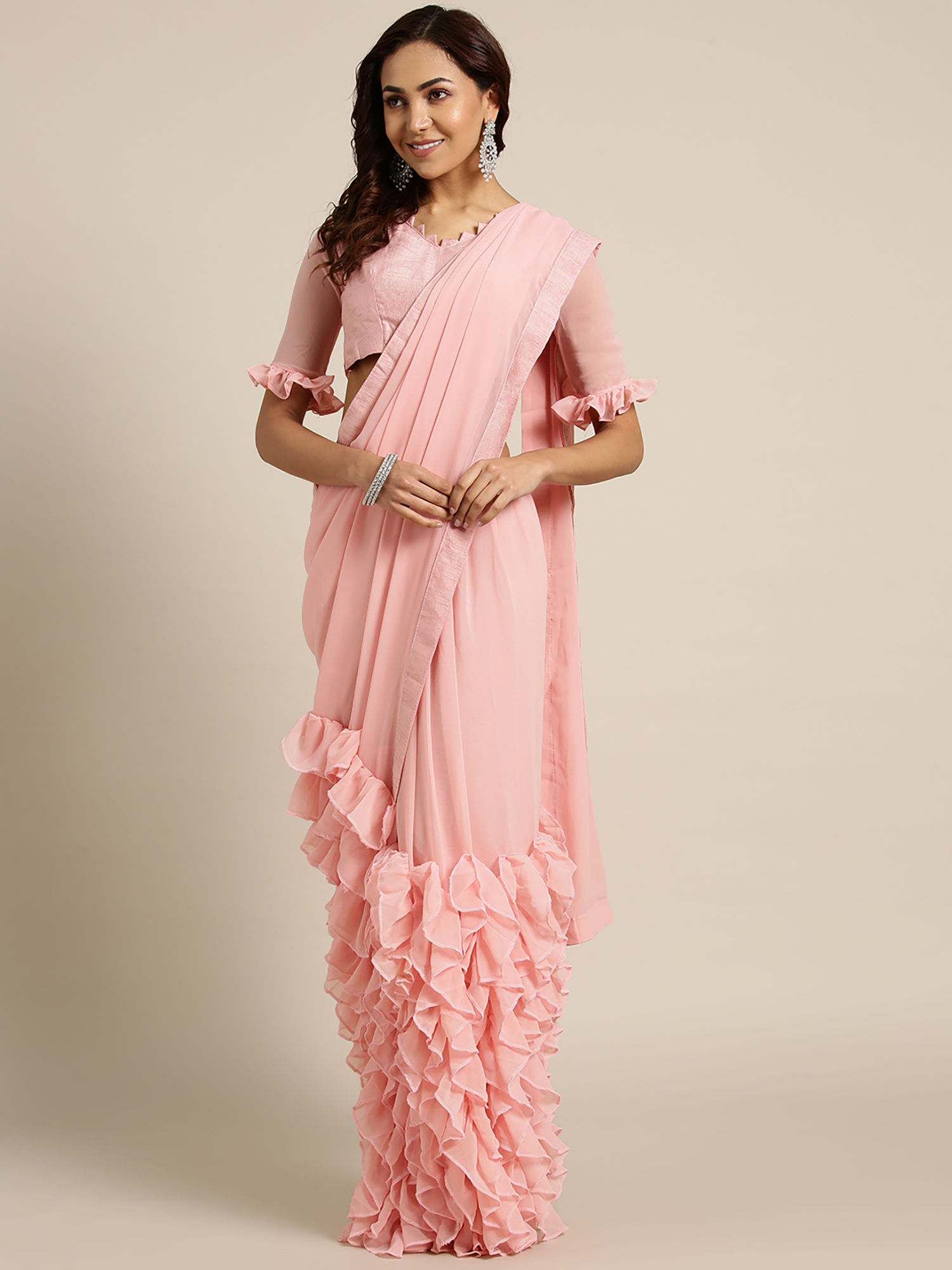 Party Wear Saree Online Buy Latest Designer Party Sarees At Best Prices Nykaa Fashion