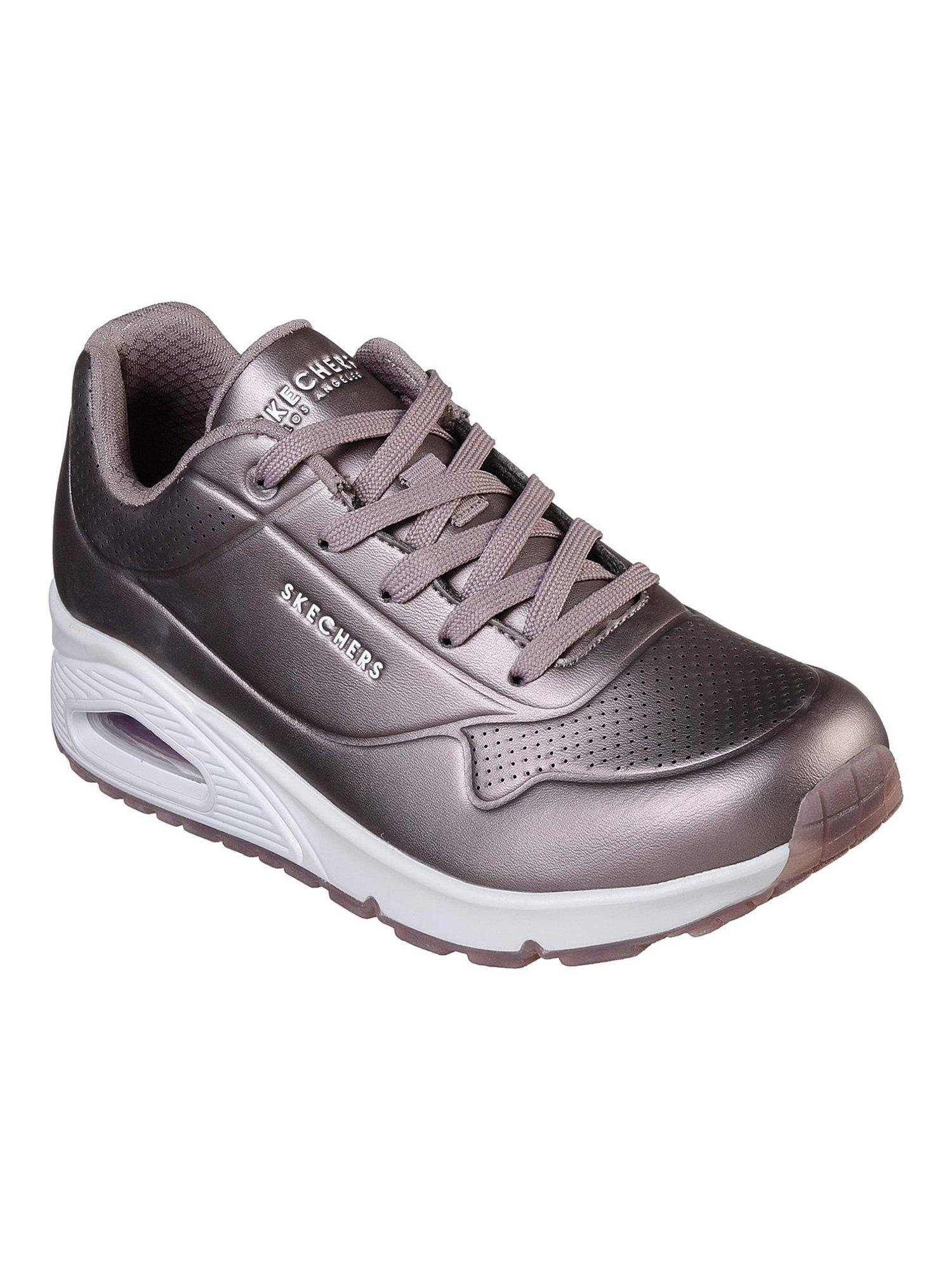 Buy SKECHERS Grey Solid Running Shoes