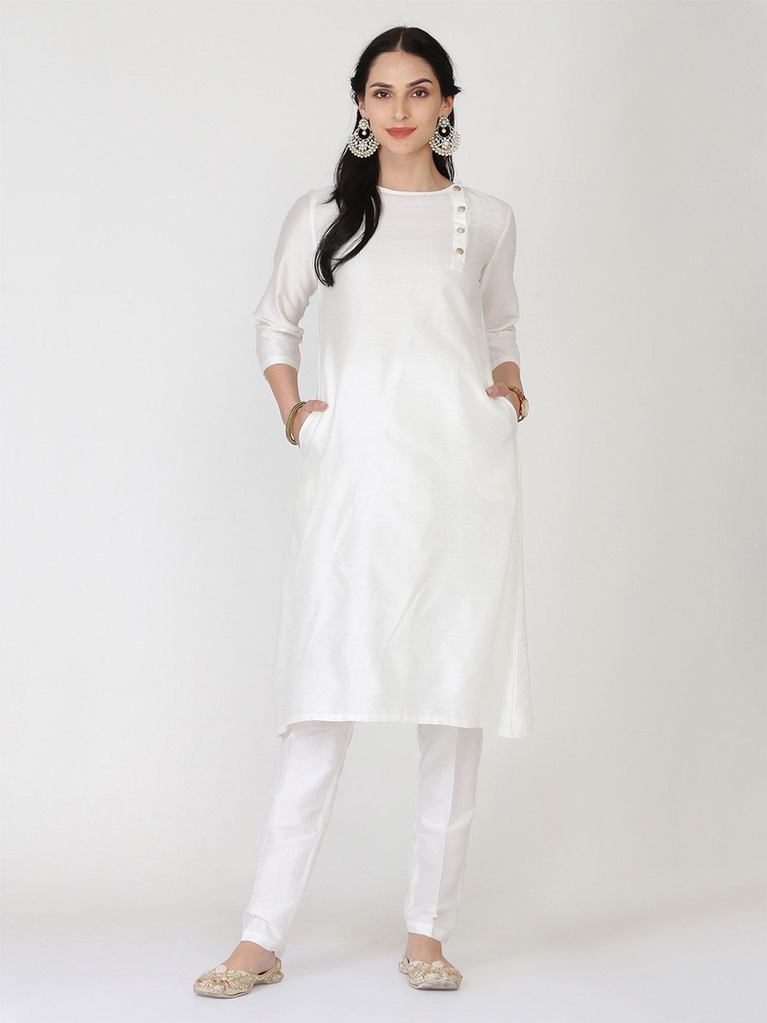 White Kurti Online Buy Best White Kurti Designs For Women Nykaa Fashion