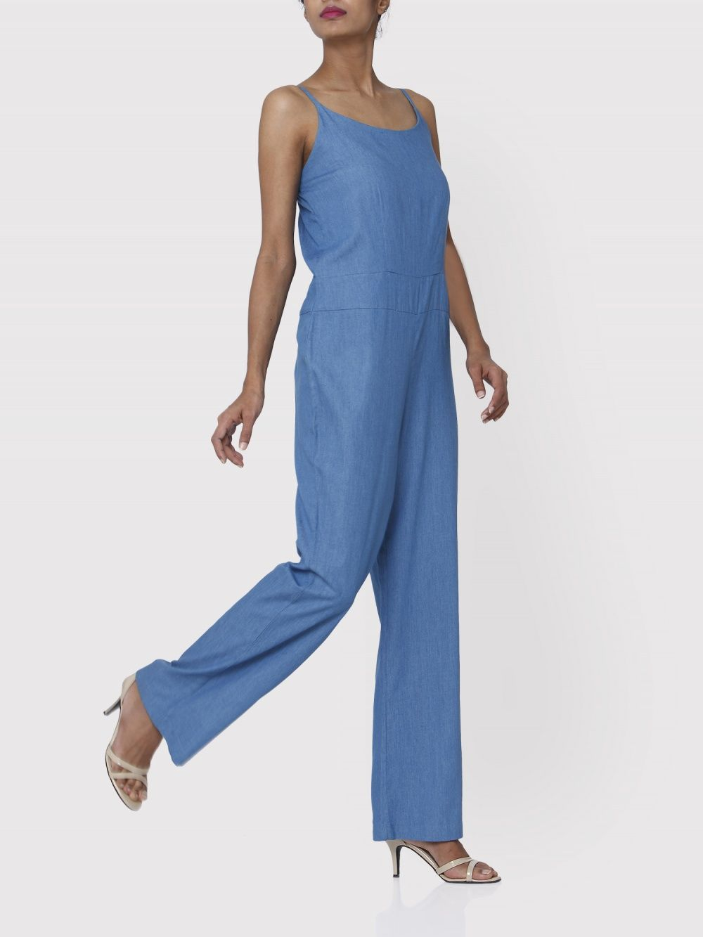 0c96baf741c5f Aruni Jumpsuits   Buy Aruni Medium Blue Denim Jumpsuit Online ...