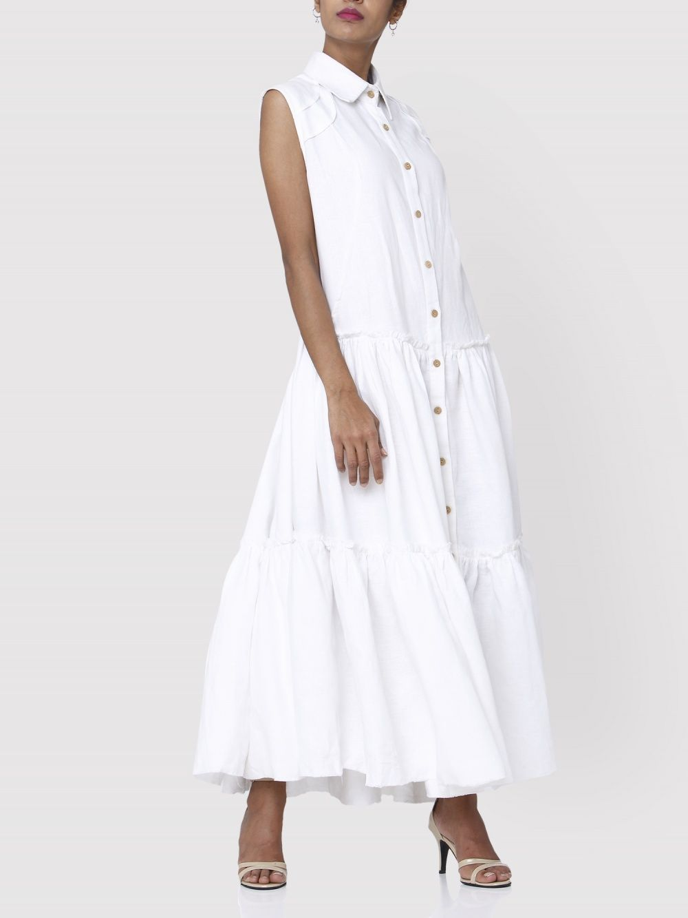 d8571b1fe9c Aruni Dresses   Buy Aruni White Linen Maxi Dress Online
