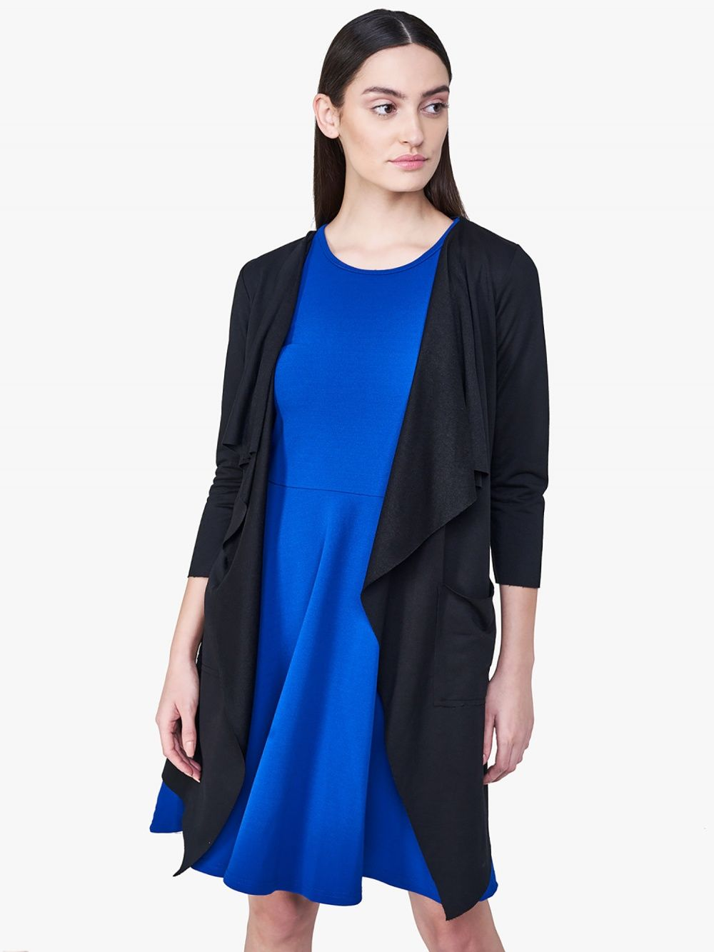 0273f3daa48 AND Jackets   Buy AND Black Waterfall Shrug Online