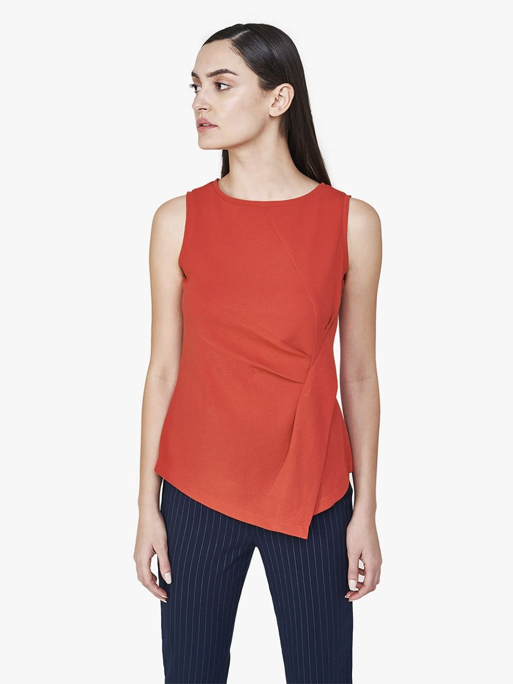 eff5b9044d3989 AND Shirts Tops and Crop Tops   Buy AND Red Asymmetrical Top Online ...