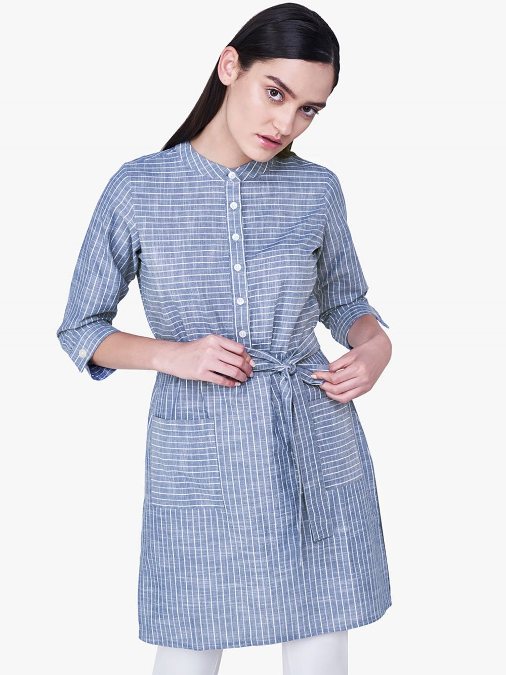 4d715d99a62 AND Tunics : Buy AND Blue Striped Tunic Online | Nykaa Fashion.