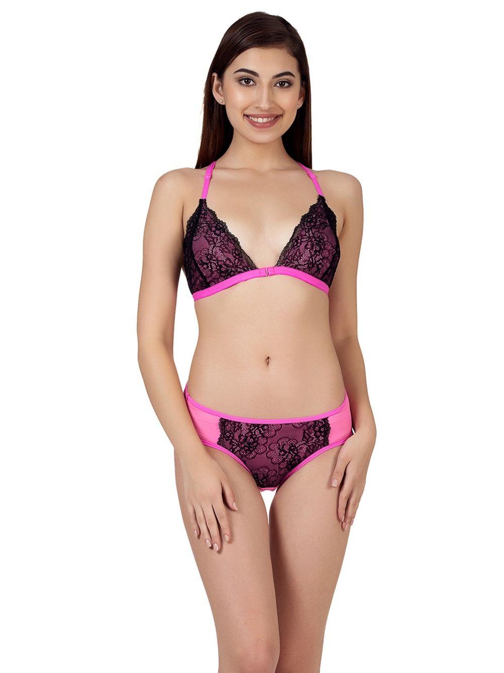 da6c67733 Clovia Bra-Underwear Sets   Buy Clovia Lace Non-Padded Non-Wired ...