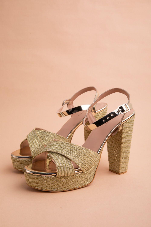 c8cb257fce ERIDANI Heels : Buy ERIDANI Gold Bellatrix Heels Online | Nykaa Fashion.