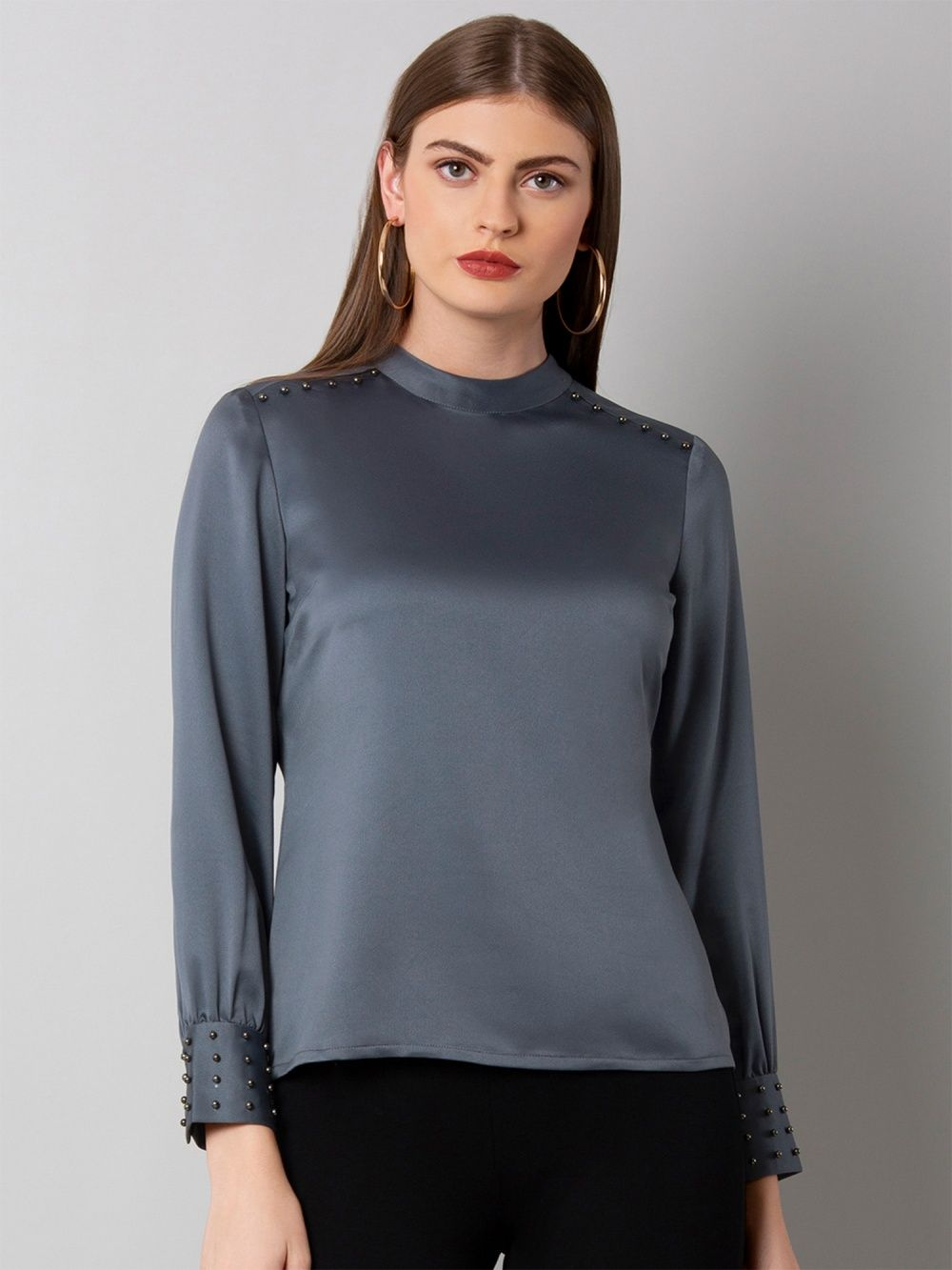 dbb65364162 Faballey Shirts Tops and Crop Tops   Buy Faballey Grey Pearl ...