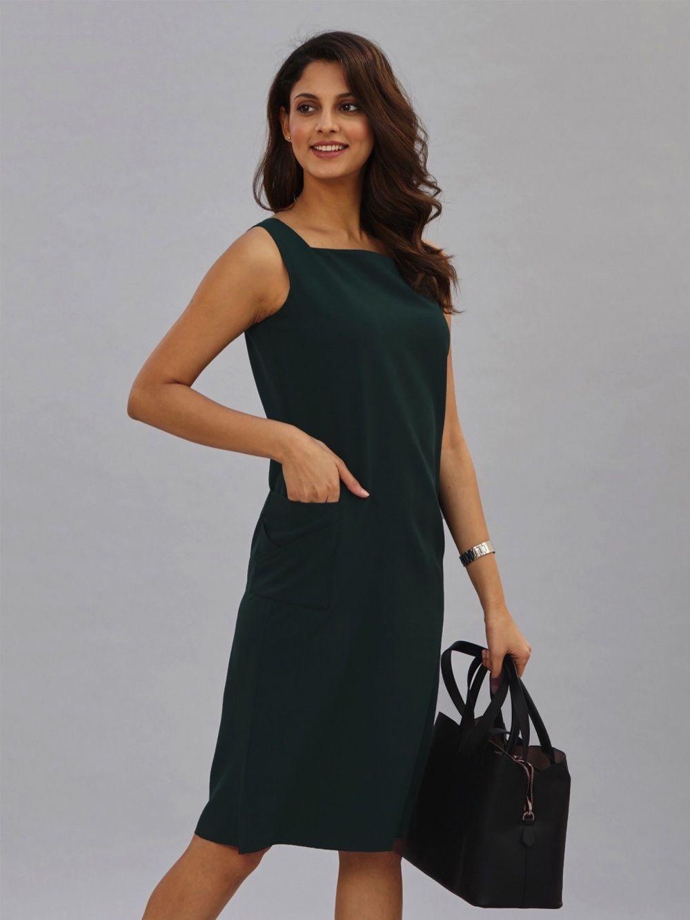 21ce3ad94d FableStreet Dresses   Buy FableStreet Side Pocket Wide Neck Shift ...