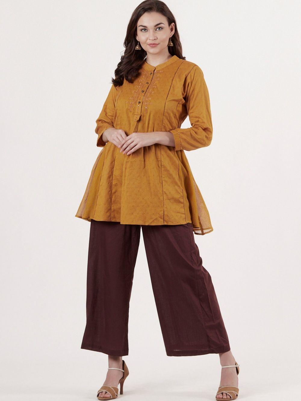492179fd4d7f Ritu Kumar Kurtis Kurtas and Tunics : Buy Ritu Kumar Round Neck Full ...
