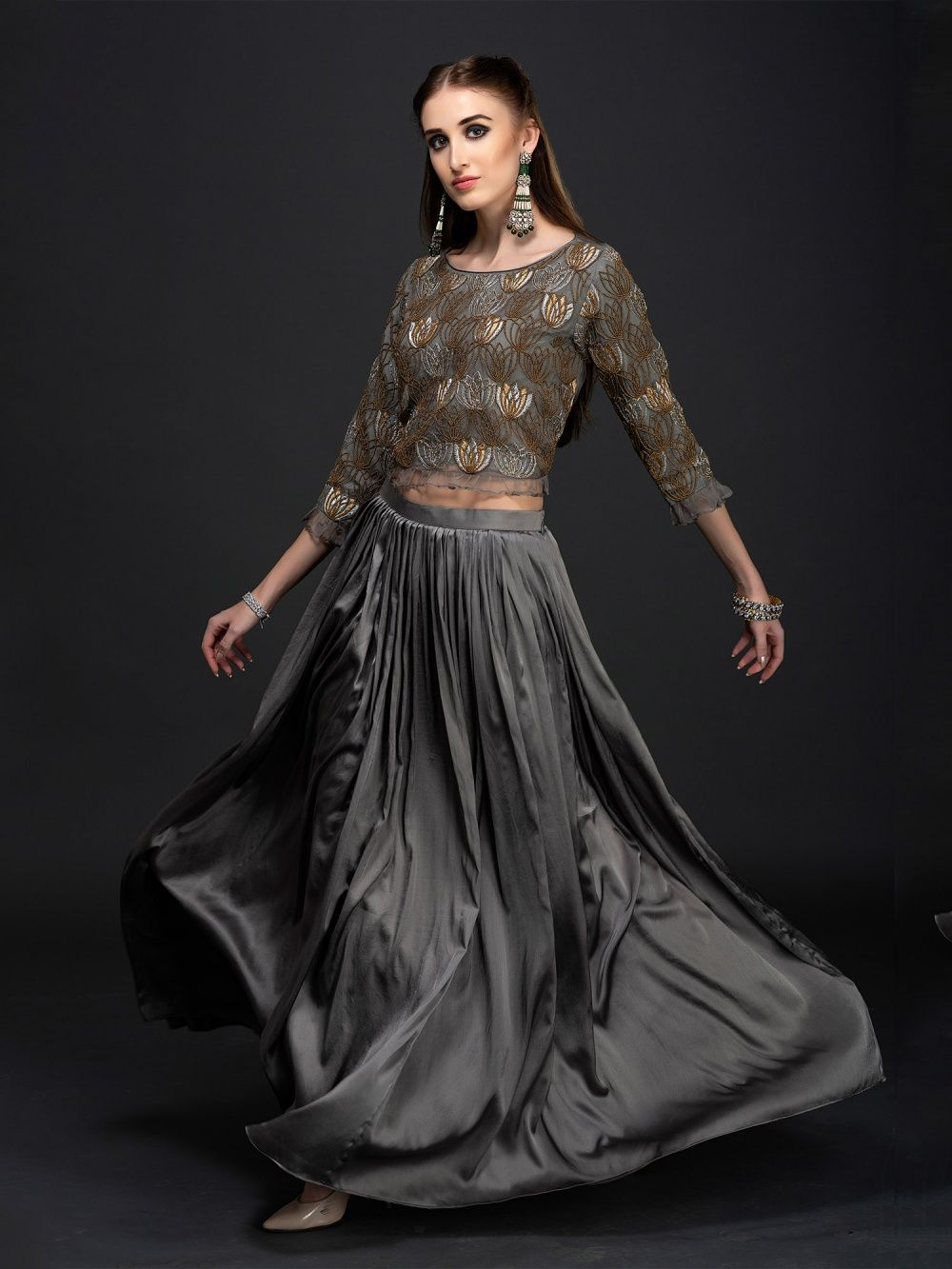 8c6da04102766a Label Reet Lehengas   Buy Label Reet Embroidered Niloufar Top And ...