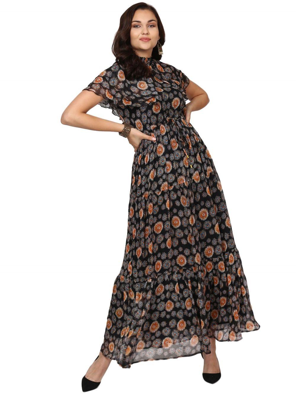 ce2cdb338e6 Label Ritu Kumar Dresses   Buy Label Ritu Kumar Black Printed ...
