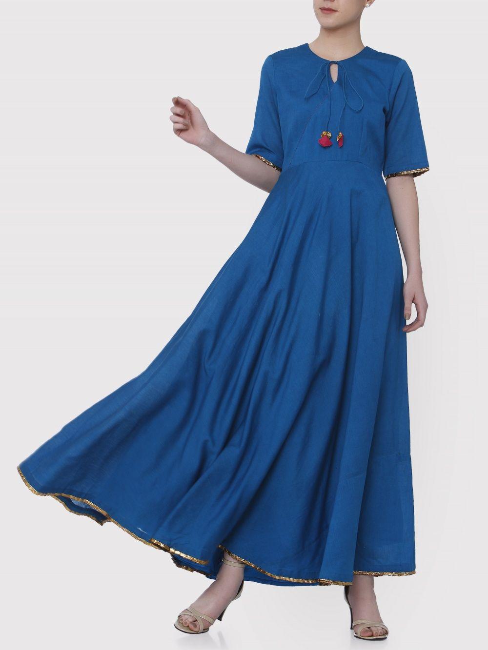 8779102afee Medhya Dresses   Buy Medhya Blue Umbrella Dress Online