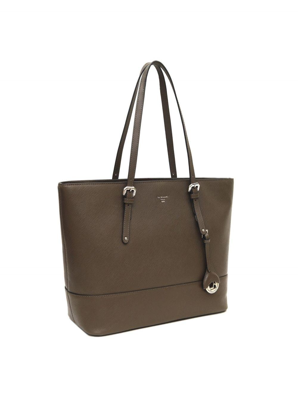 4e7a384517d Da Milano Handbags : Buy Da Milano LB-3771 Grey Genuine Leather ...