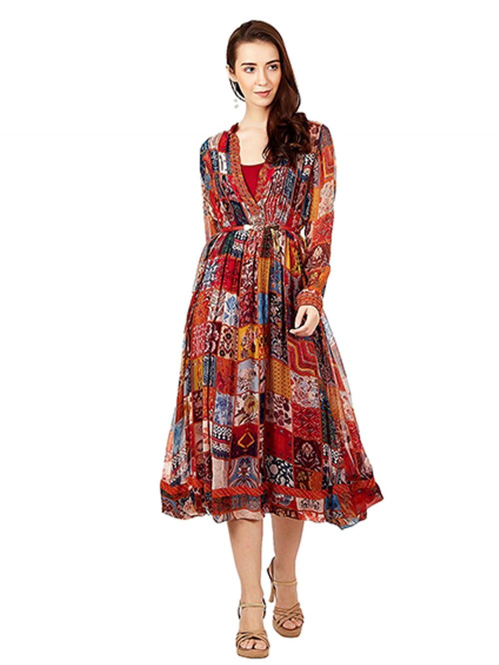 39da63381ab Ritu Kumar Kurtis Kurtas and Tunics   Buy Ritu Kumar Multi Print ...