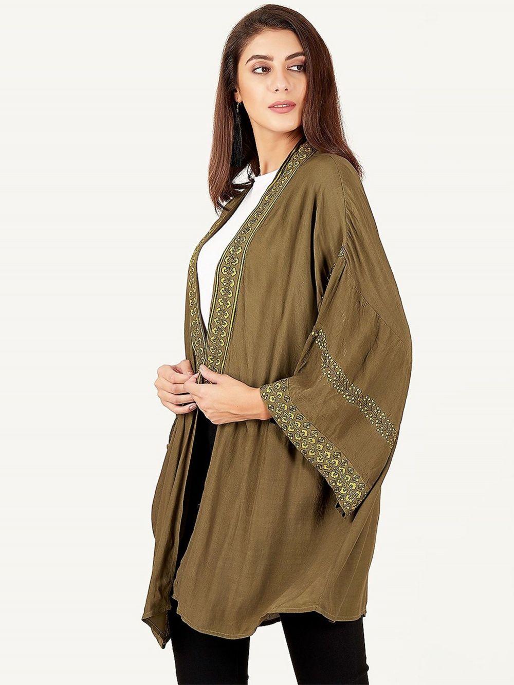 cfdeee0dd7 Label Ritu Kumar Jackets : Buy Label Ritu Kumar V-Neck Full Sleeves ...