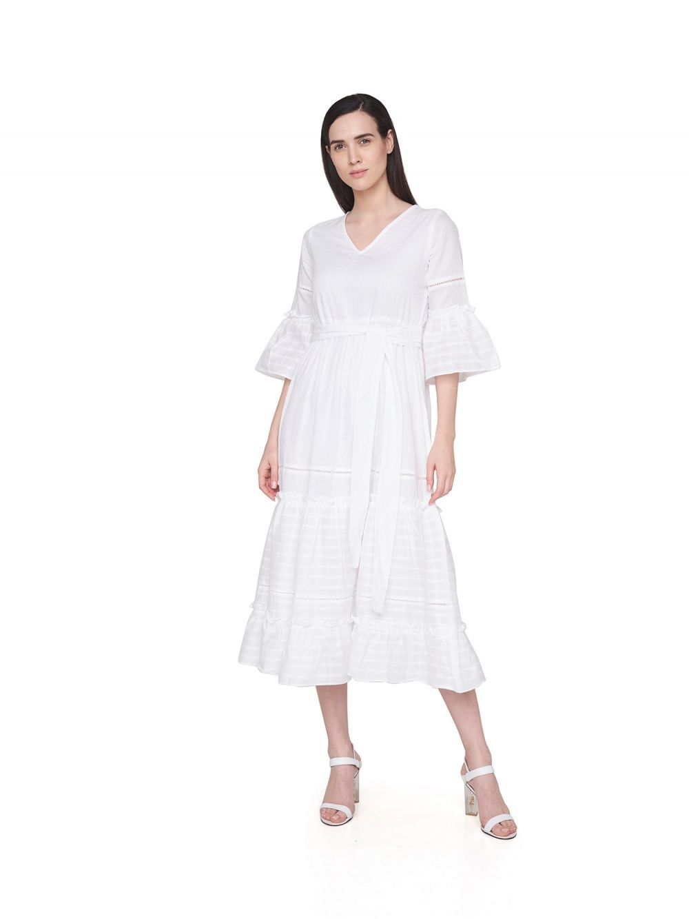 edbed16ea AND Dresses   Buy AND White Tiered Maxi Dress Online
