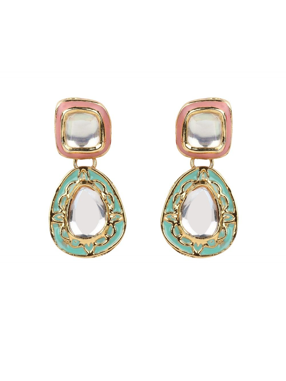aba8c32b1 TAD Accessories Earrings : Buy TAD Accessories Pink And Blue ...