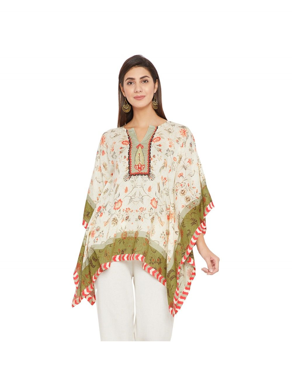 bfd4eabbbad457 THE KAFTAN COMPANY Safavid Palampore Embroidery Kaftan And Pant Set