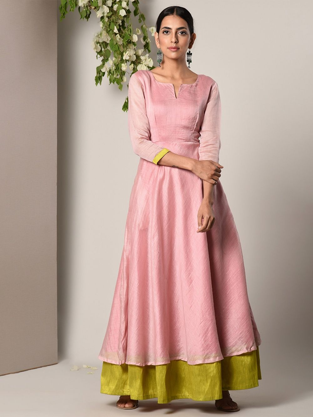 96127a3f90af trueBrowns Salwar Suits and Sets : Buy trueBrowns Mud Pink Green ...