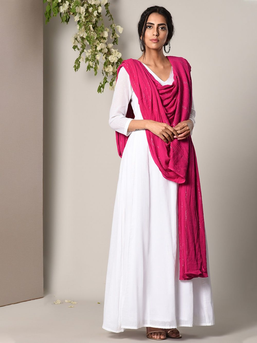2340fab44f5 trueBrowns Salwar Suits and Sets   Buy trueBrowns White Dress Pink ...