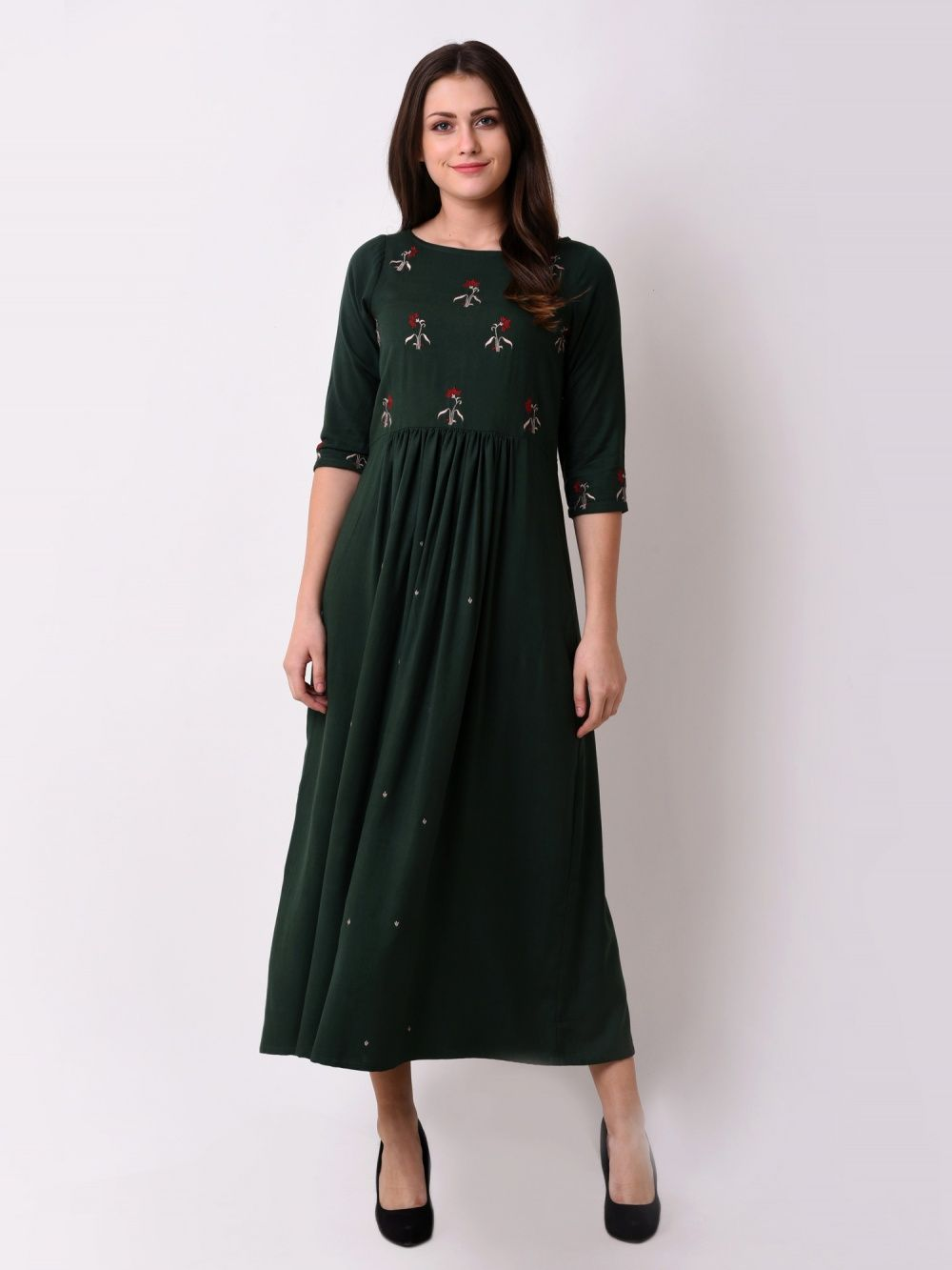 526a3f4e3a6633 VRITTA Dresses : Buy VRITTA Women'S Floral Gathered Maxi Dress ...