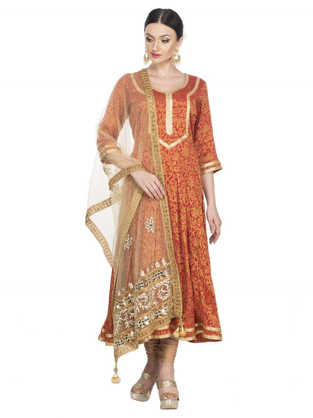 bbb2fbc94a9d7c Zumaira Salwar Suits and Sets   Buy Zumaira Aaina Anarkali Set With ...