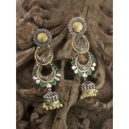 bc173a307 Sia Jewellery : Buy Sia Two Layered Chandelier Handcrafted Earring Online |  Nykaa Fashion.