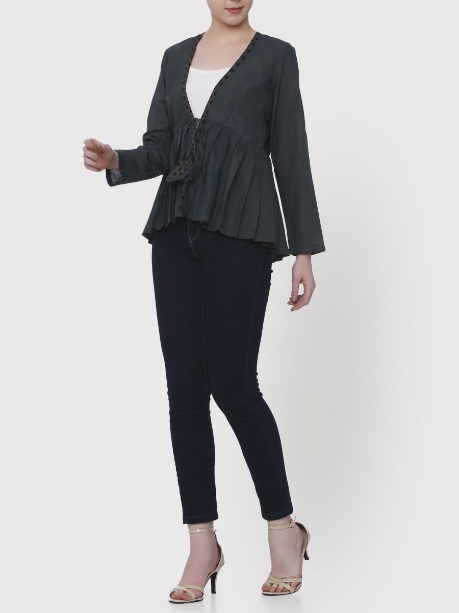 669fe4028b5 Medhya Black Khadi Jacket