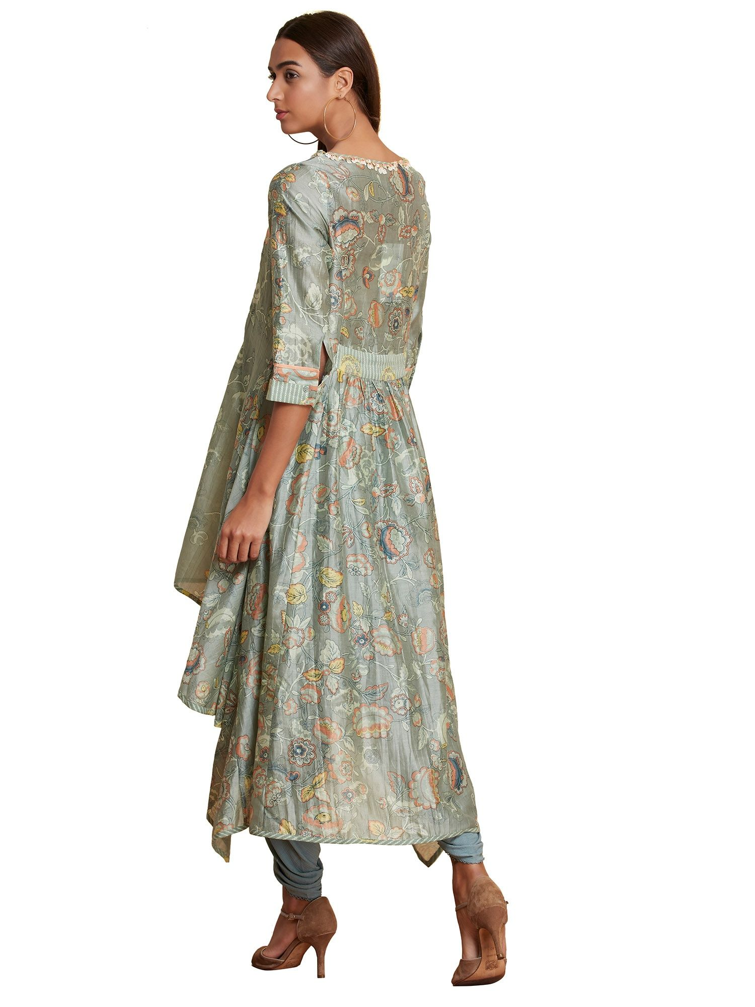 9568c1b066 Ritu Kumar Kurtis Kurtas and Tunics : Buy Ritu Kumar Olive Round ...
