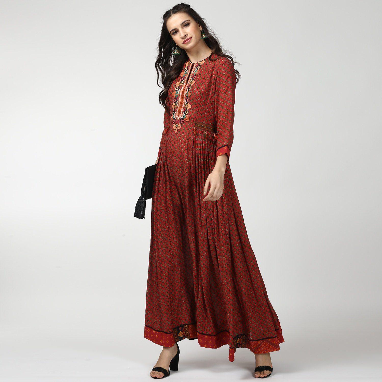28206ae418e Ritu Kumar Kurtis Kurtas and Tunics   Buy Ritu Kumar Red Georgette ...