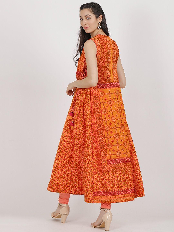 d536245f1e Ritu Kumar Kurtis Kurtas and Tunics : Buy Ritu Kumar Orange Round ...
