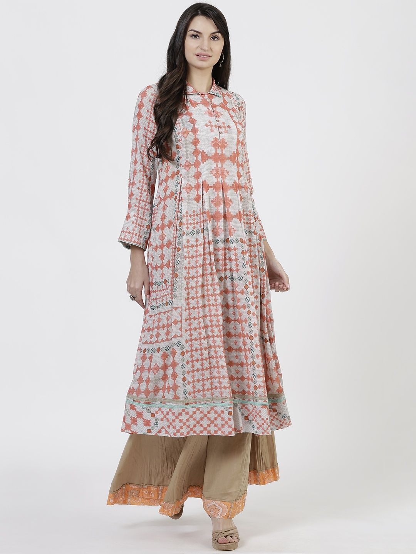 280978e5952 Ritu Kumar Kurtis Kurtas and Tunics   Buy Ritu Kumar Soft Grey ...