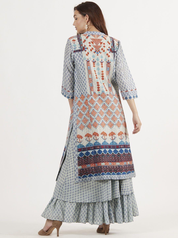 cd5cdab9a6 Ritu Kumar Salwar Suits and Sets : Buy Ritu Kumar Grey Inner Kurta ...