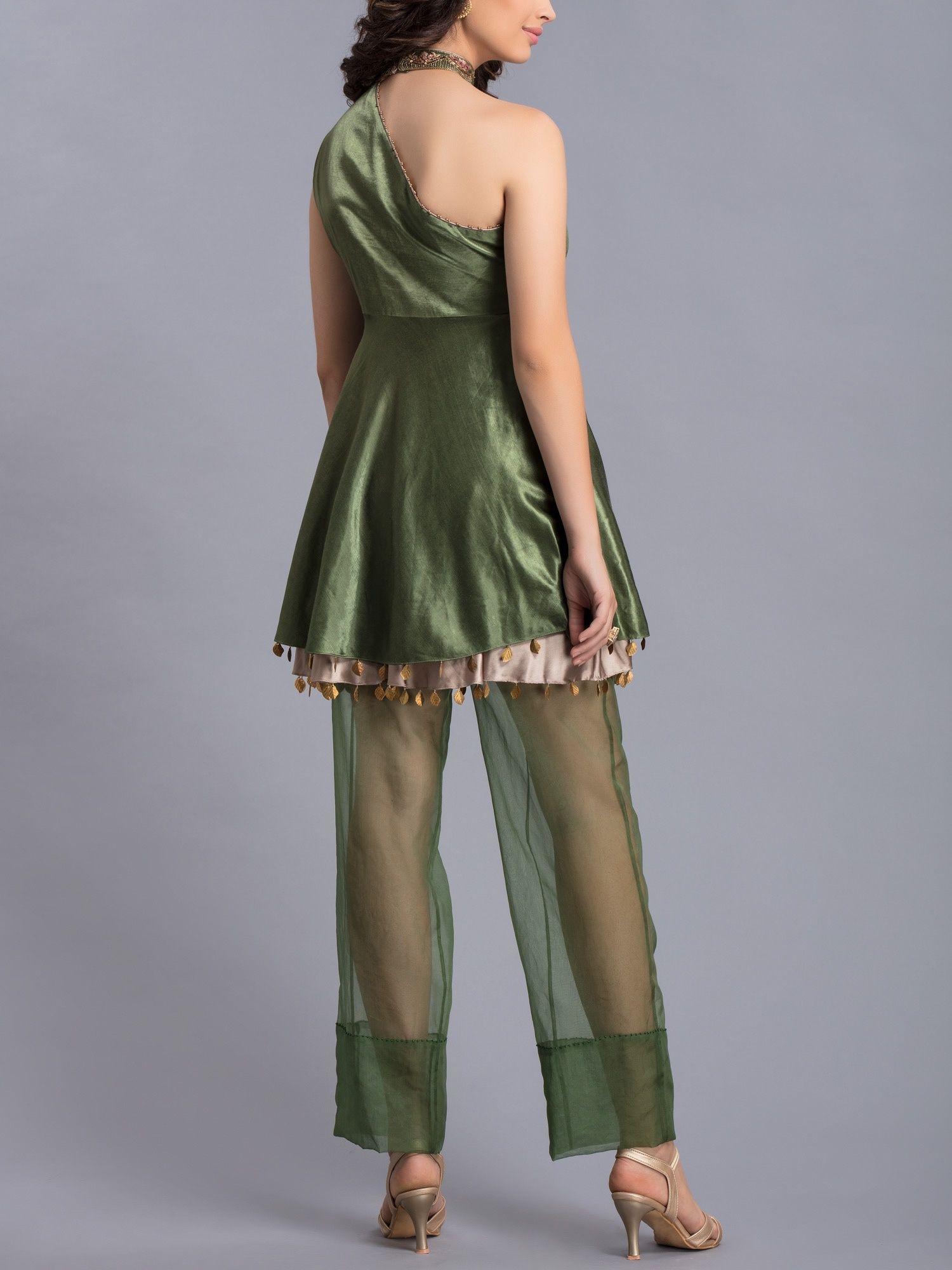 7e38193dc35 Avdi Kurtis Kurtas and Tunics : Buy Avdi Olive Green Tunic with ...