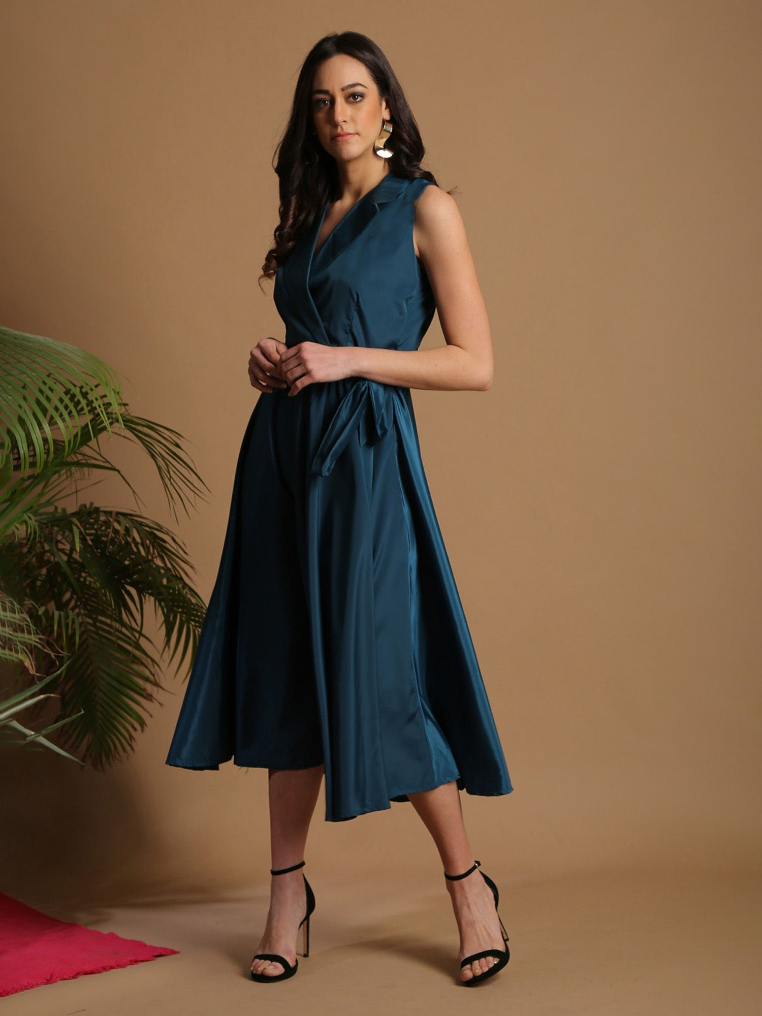 29d5712ebb Alaya by Stage3 Dresses   Buy Alaya By Stage3 Teal Blue Lapel Collar ...