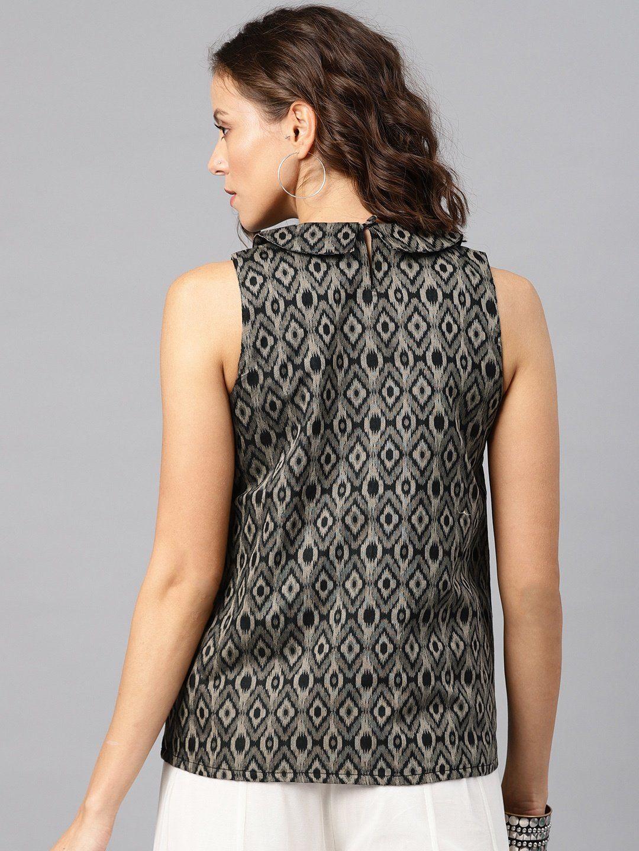 83f93a6c5 Desi Weavess Shirts Tops and Crop Tops : Buy Desi Weavess Grey Ikat ...
