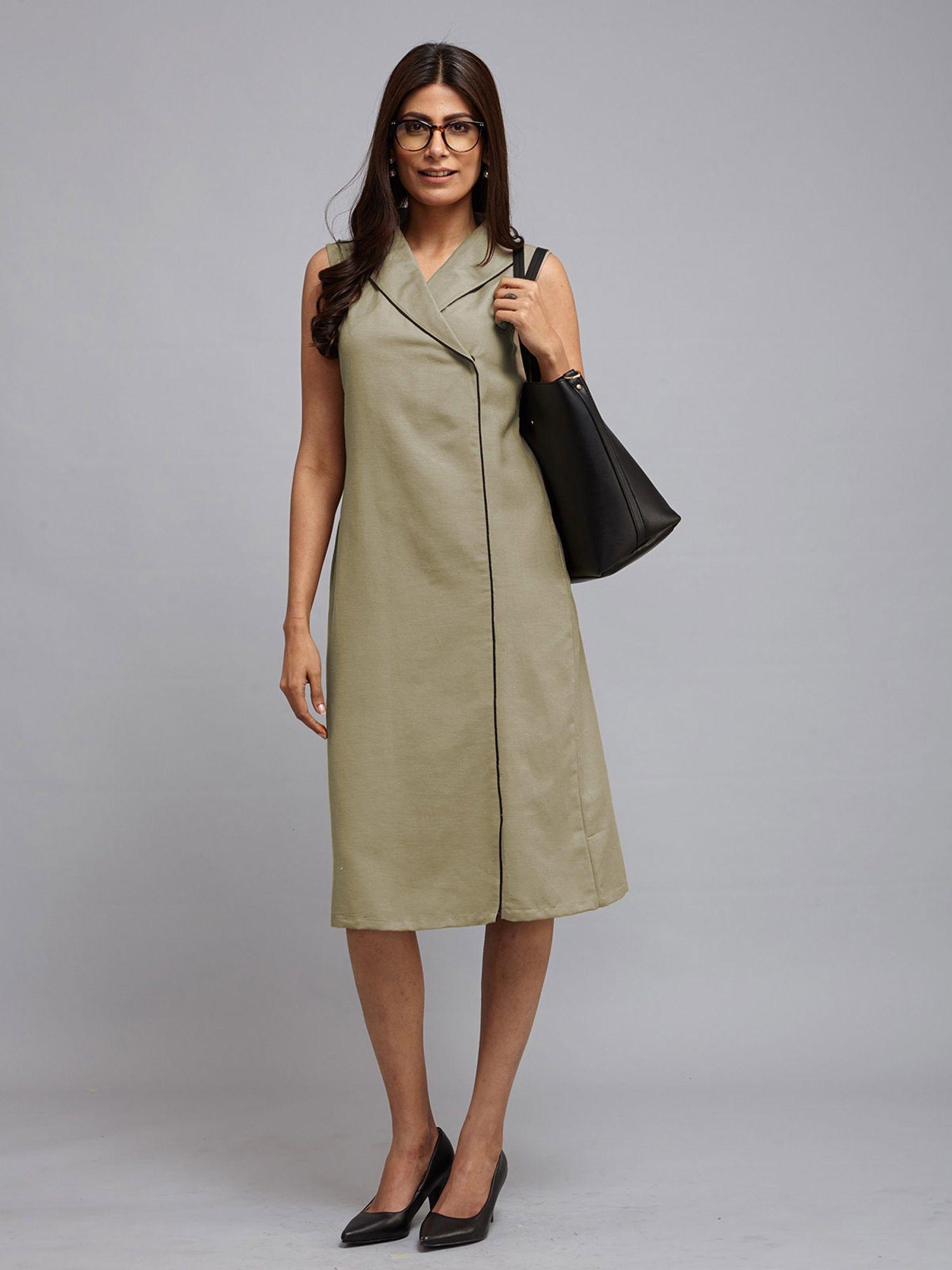 0412529b2b FableStreet Dresses   Buy FableStreet Collared Midi Dress - Olive Online