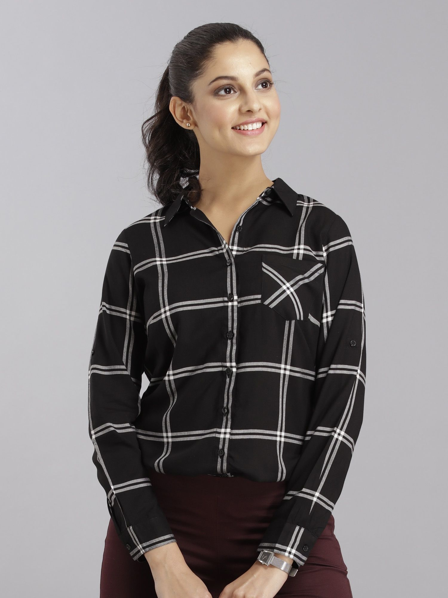 3b6b64d8a69 FableStreet Shirts Tops and Crop Tops : Buy FableStreet Plaid ...