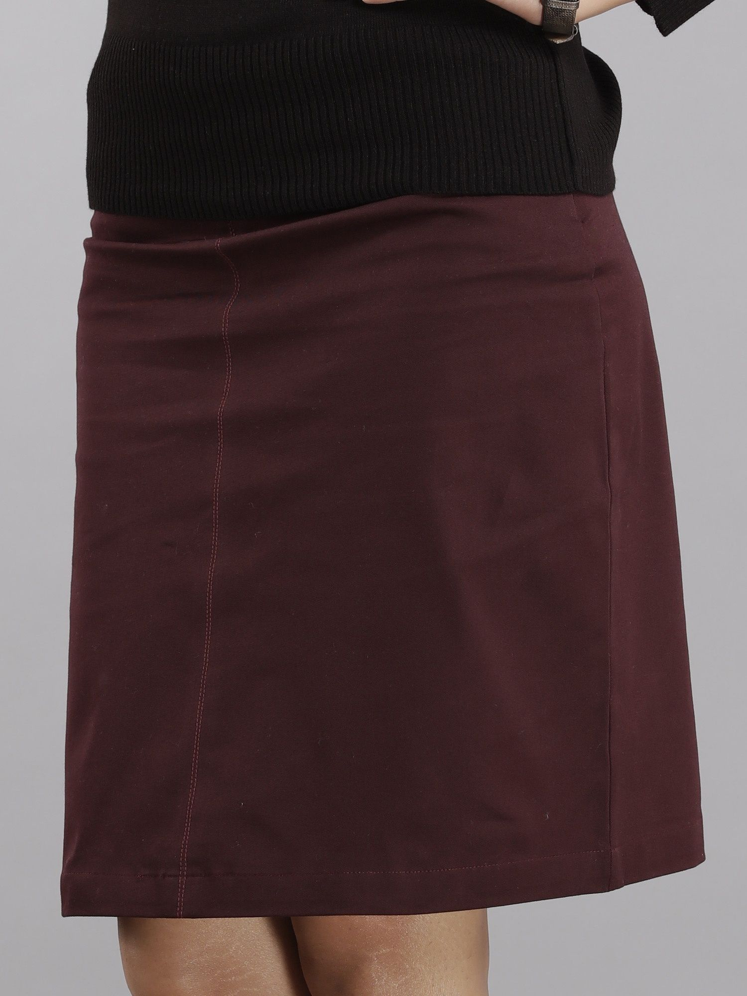 5b108bf431 FableStreet Skirts : Buy FableStreet A Line Skirt - Maroon Online ...