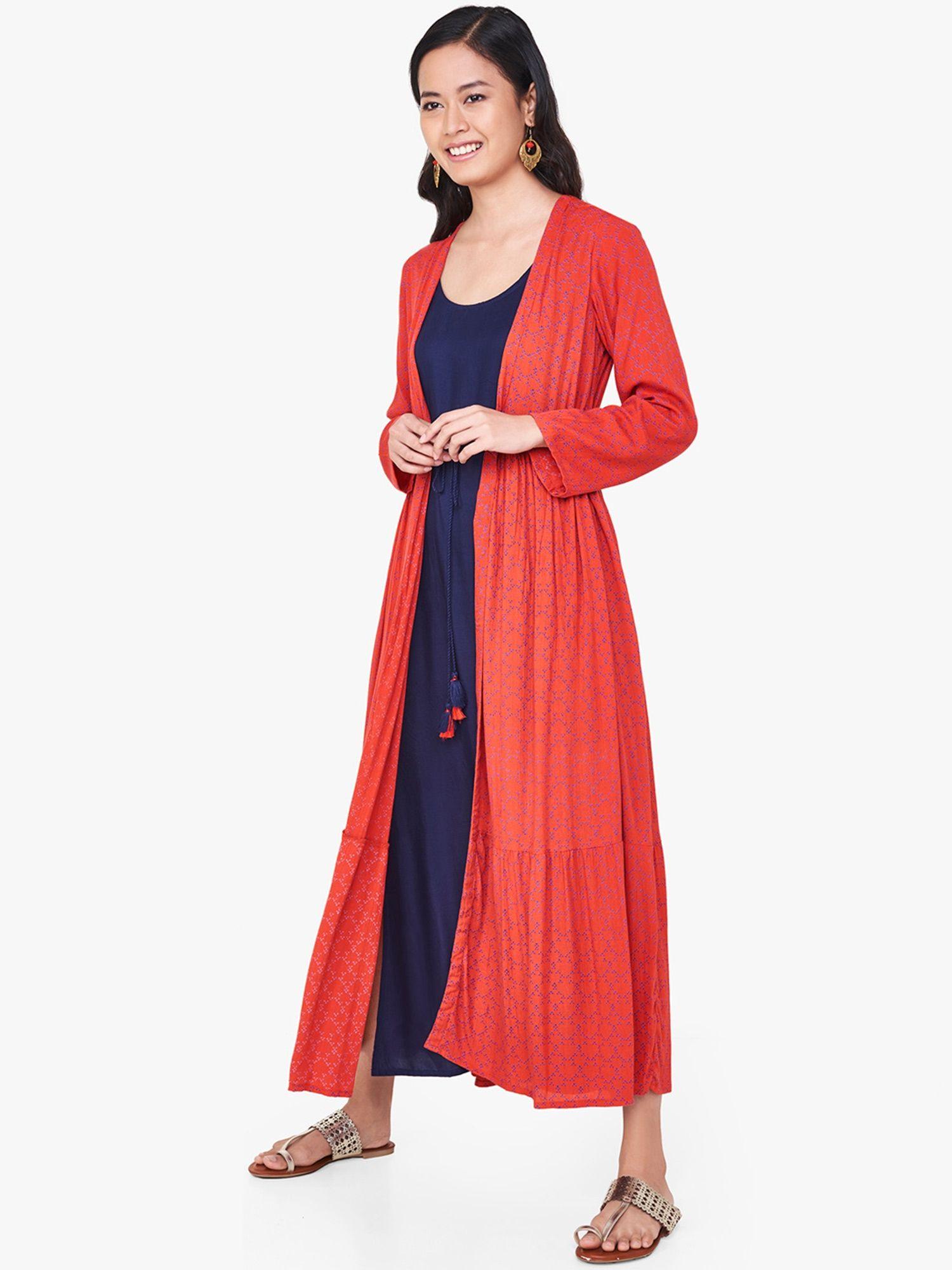 Global Desi Dresses   Buy Global Desi Rust Front Tie-Up Dress Online ... 3244c0aed