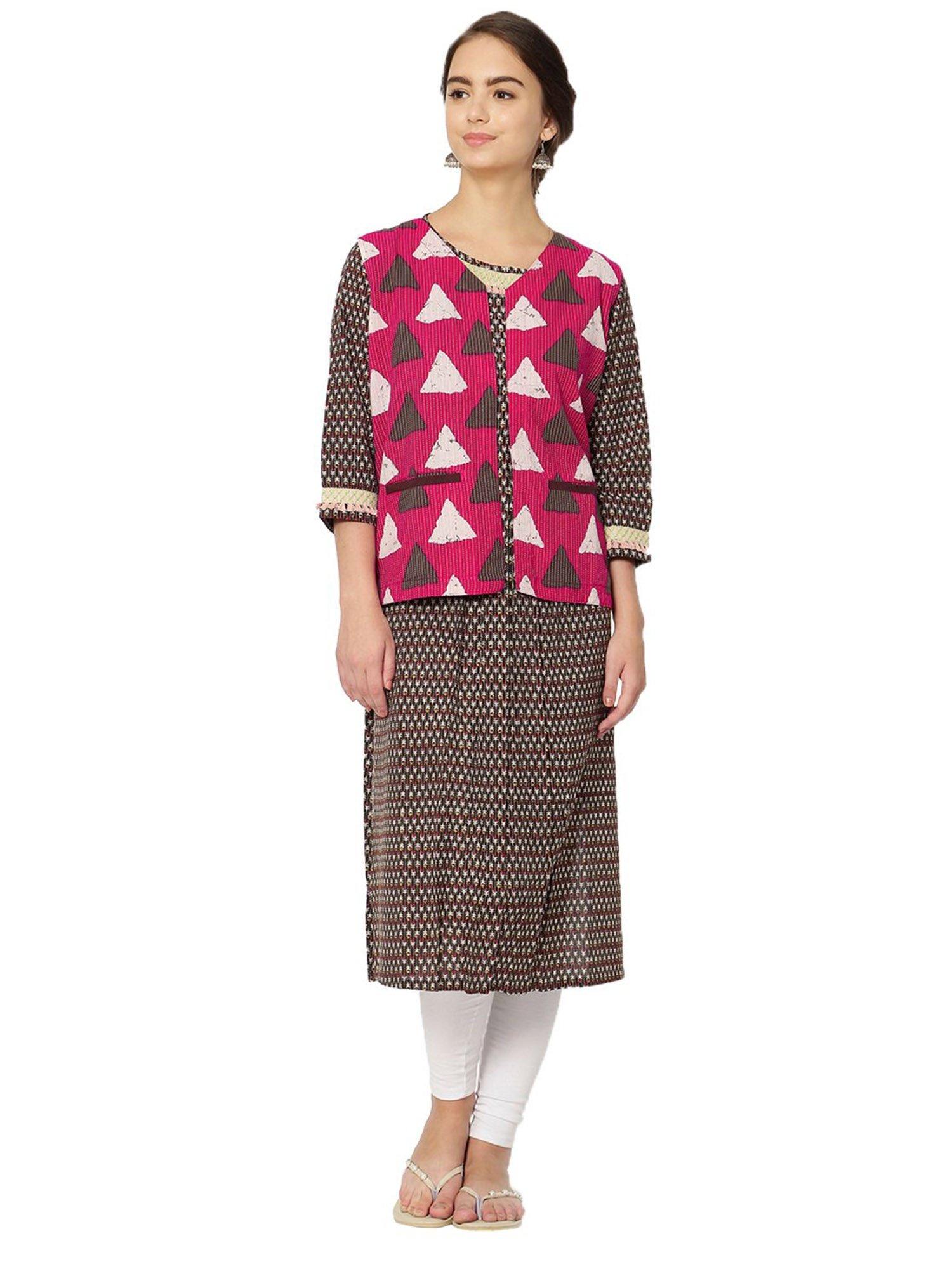 6d478ee017c IDAR Kurtis Kurtas and Tunics   Buy Idar Women s Brown Cotton ...