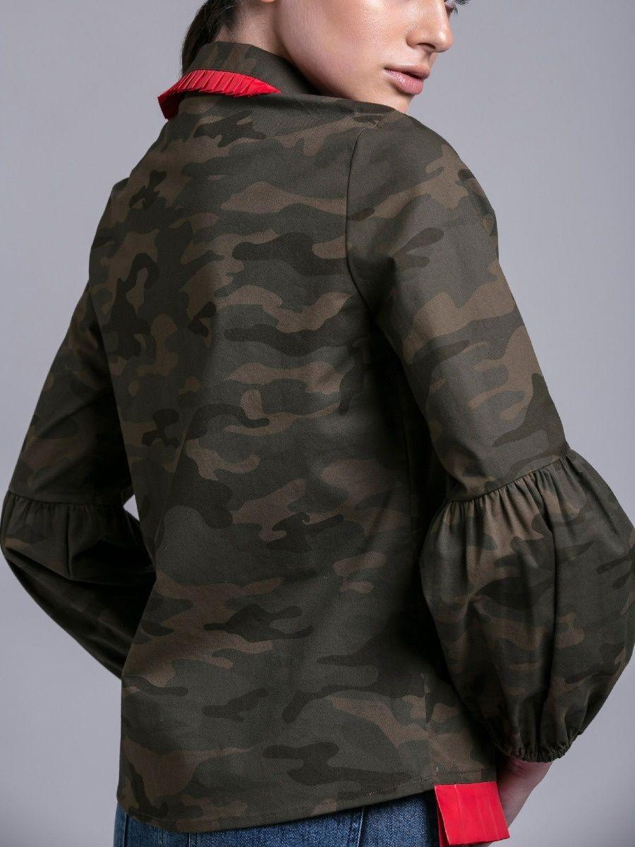 f2bdc5d309096 MellowDrama Shirts Tops and Crop Tops   Buy MellowDrama Army Print Shirt  Online