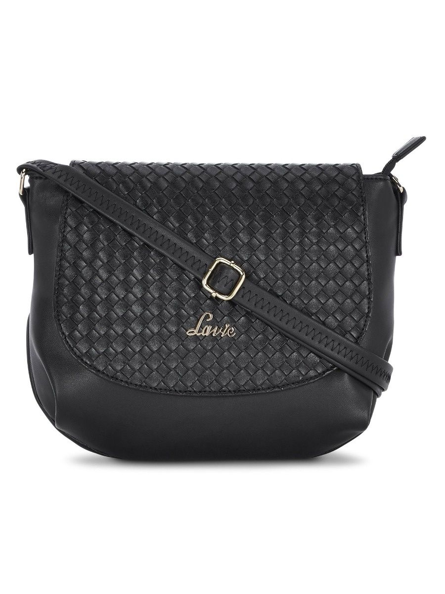 c9aee3a75 Lavie Sling and Cross Bags   Buy Lavie Black NAZIHA CSB WEAVEFLAP ...