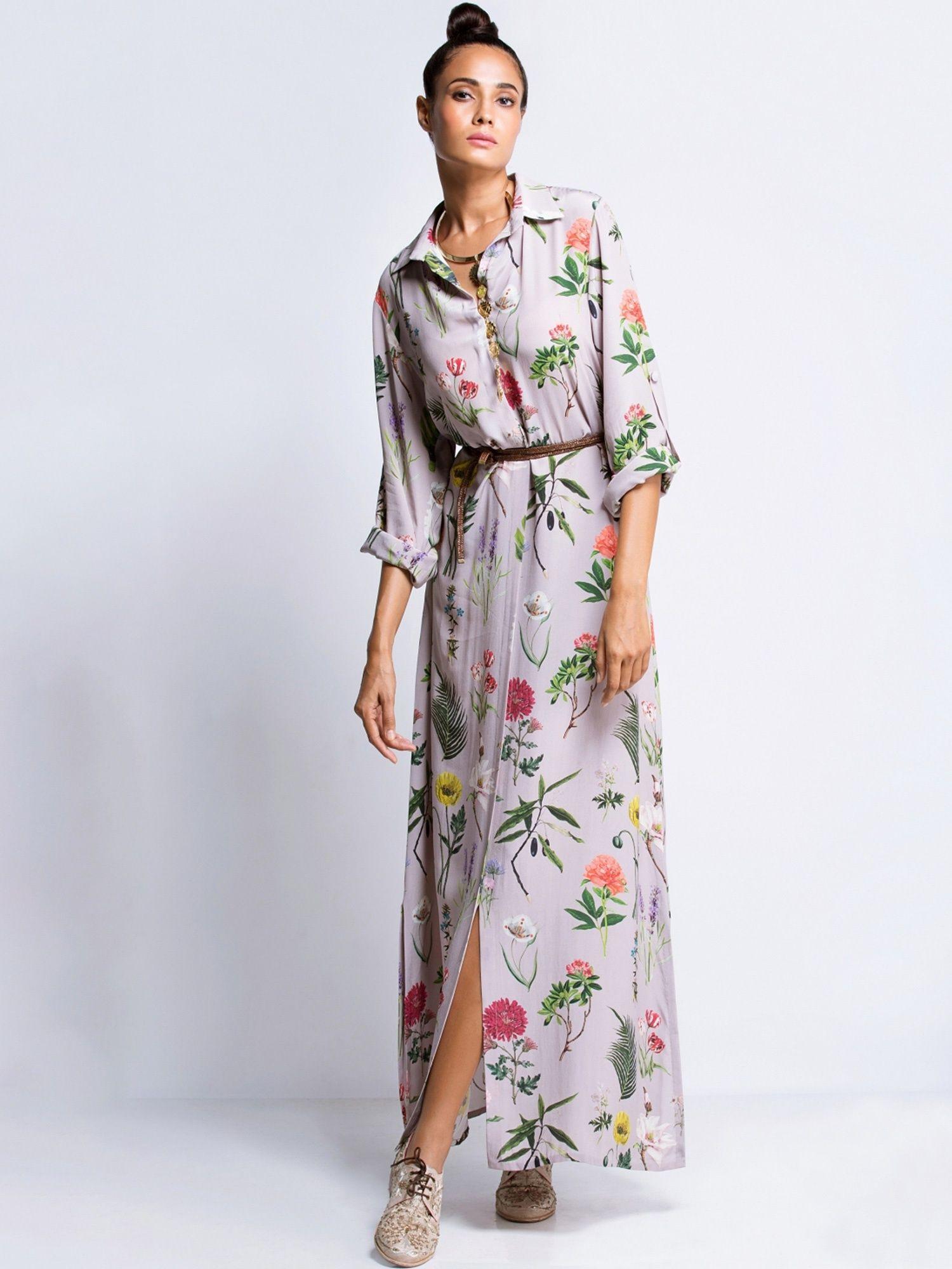 105617eee3d Payal Singhal Dresses   Buy Payal Singhal Lilac Printed Shirt Dress ...