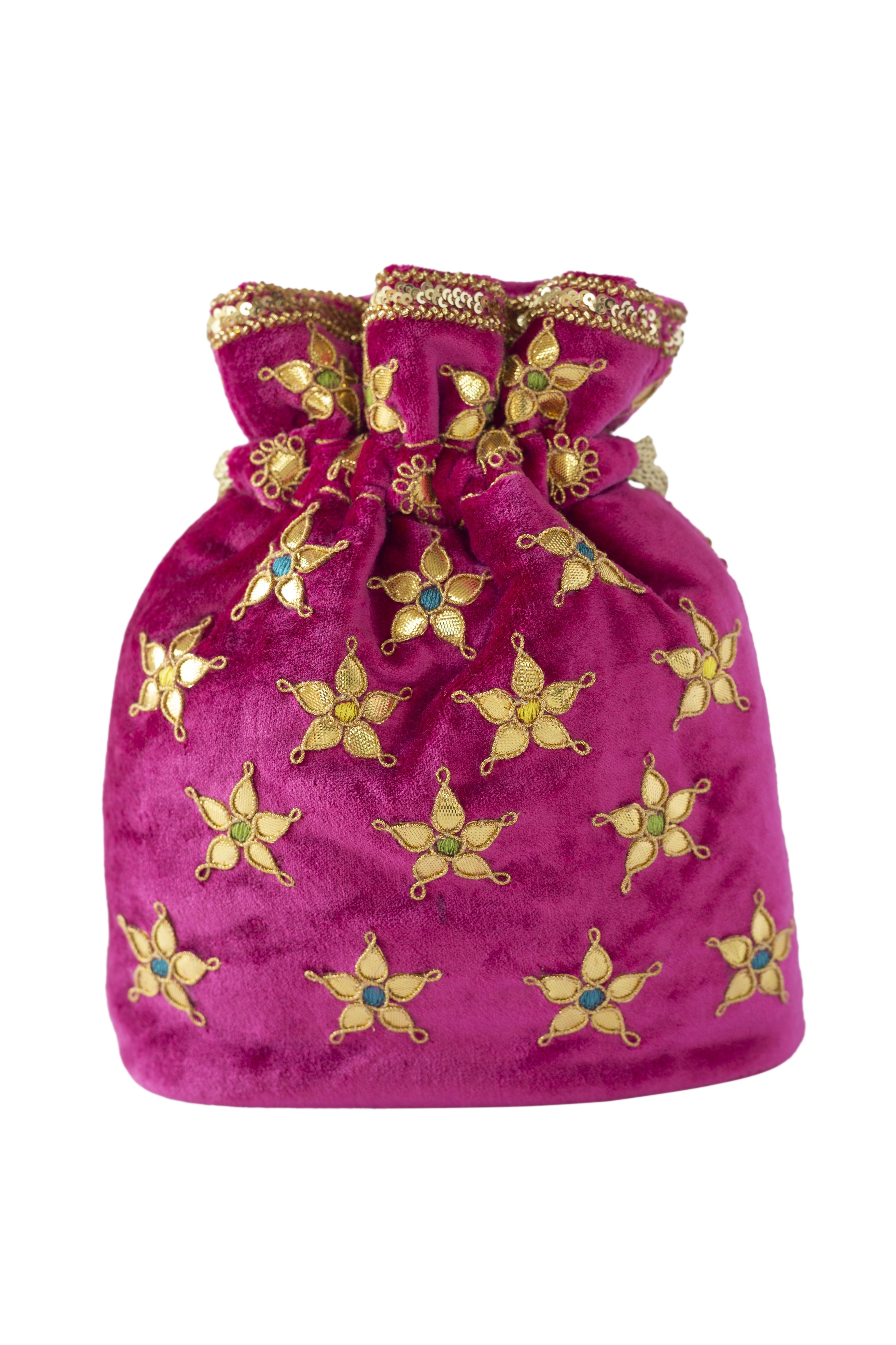 6d94632784 Adora By Ankita Batuas and Potlis   Buy Adora By Ankita Pink Velvet ...