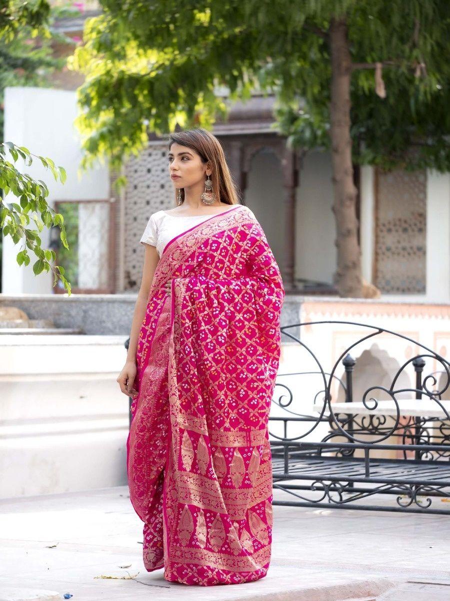 3cd77fe880 Rangpur Sarees : Buy Rangpur Magenta Art Silk Saree With Silver ...