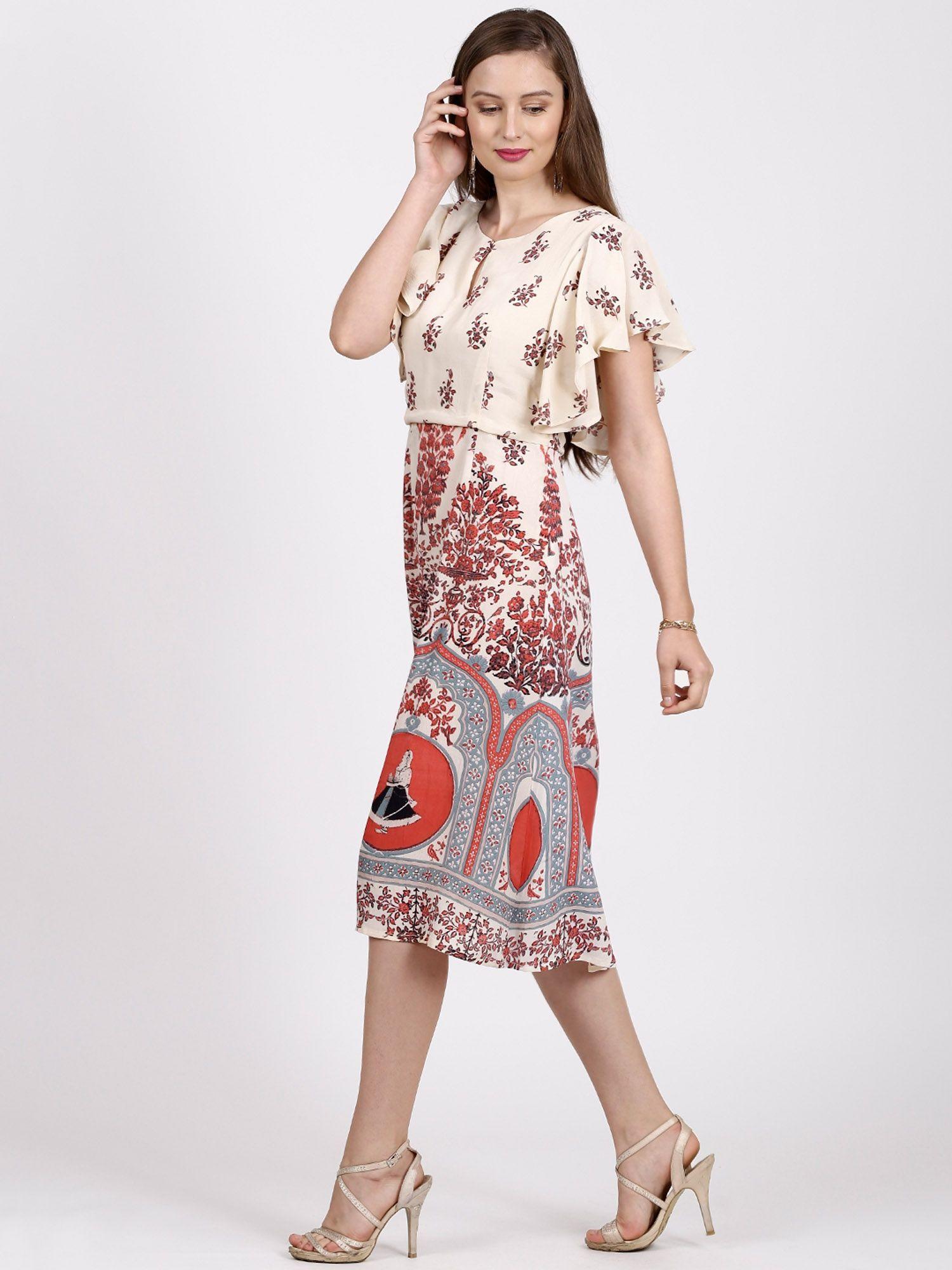 Label By Ritu Kumar >> Label Ritu Kumar Dresses : Buy Label Ritu Kumar Round Neck Half Sleeves Dress - Coral Online ...